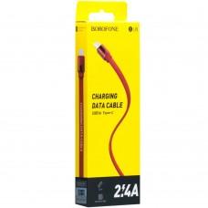 USB-кабель Borofone BU8 Glory (Type-C) (Красный)