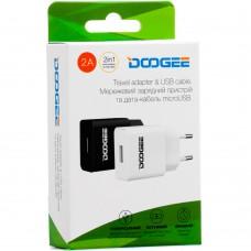 СЗУ-адаптер Doogee YJ-06 2A + MicroUSB-кабель (Белый)