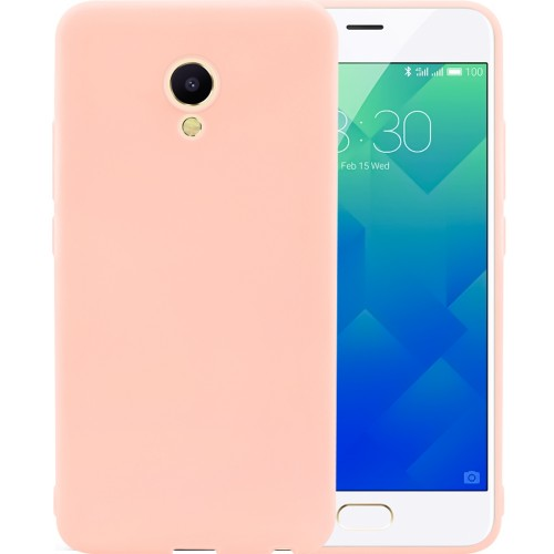Силиконовый чехол SMTT Meizu M5 (Розовый)