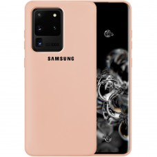 Силикон Original Case Samsung Galaxy S20 Ultra (Пудровый)