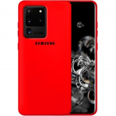 Силикон Original Case Samsung Galaxy S20 Ultra (Красный)