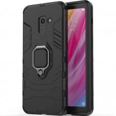 Бронь-чехол Ring Armor Case Samsung Galaxy A8 Plus (2018) A730 (Чёрный)