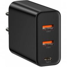 СЗУ-адаптер Baseus PPS Three Output Quick Charger 5A Type-C + 2USB 60W (Чёрный) Gadgik