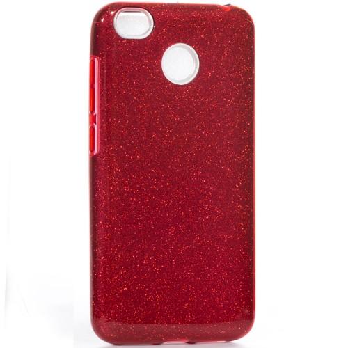 Силикон Glitter Xiaomi Redmi 4x (Красный)
