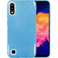 Силикон Glitter Samsung Galaxy A10 / M10 (2019) (Голубой)