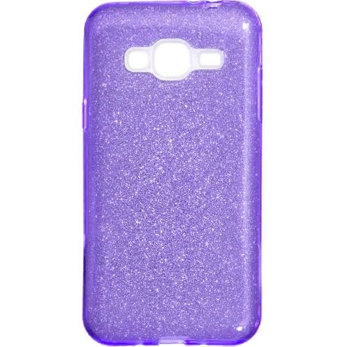 Силикон Glitter Samsung Galaxy J3 (2016) J320 (фиолетовый)