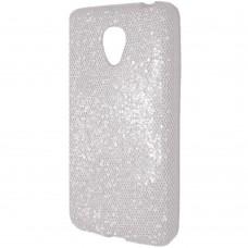 Силиконовый чехол Glitter Meizu M2 Mini (белый)