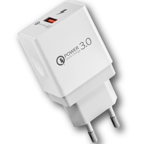 СЗУ-адаптер USB iNavi FCH-031 1USB 2.4A QC3.0 18W (Белый)