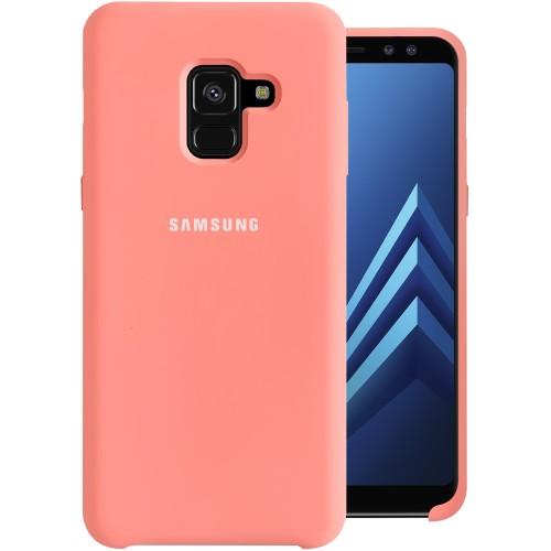 Силикон Original Case HQ Samsung Galaxy A8 (2018) A530 (Розовый)