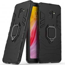 Бронь-чехол Ring Armor Case Samsung Galaxy A8 (2018) A530 (Чёрный)