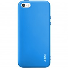 Силикон iNavi Color Apple iPhone 5 / 5s / SE (голубой)