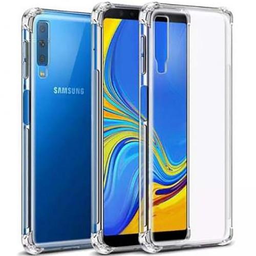 Силиконовый чехол 6D Samsung Galaxy A7 (2018) A750 (Прозрачный)