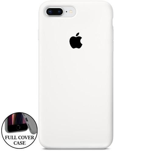 Силикон Original Round Case Apple iPhone 7 Plus / 8 Plus (41) Hard White (уценка..