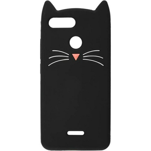 Силикон Kitty Case Xiaomi Redmi 6 (Чёрный)