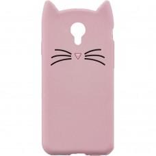 Силиконовый чехол Kitty Case Meizu M3s (розовый)