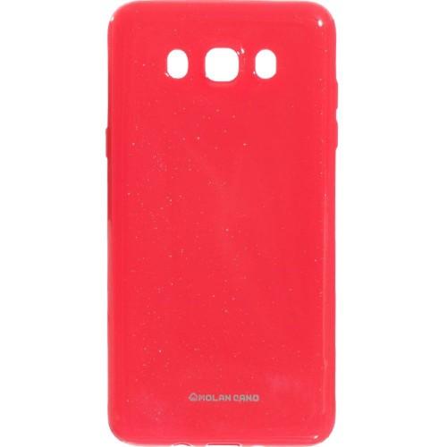 Силиконовый чехол Molan Shining Samsung Galaxy J7 (2016) J710 (Светло-красный)