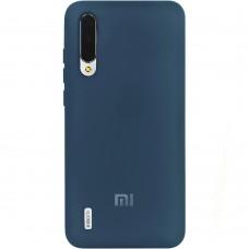 Силикон Original Case (HQ) Xiaomi Mi9 Lite / Mi CC9 (Темно-синий)