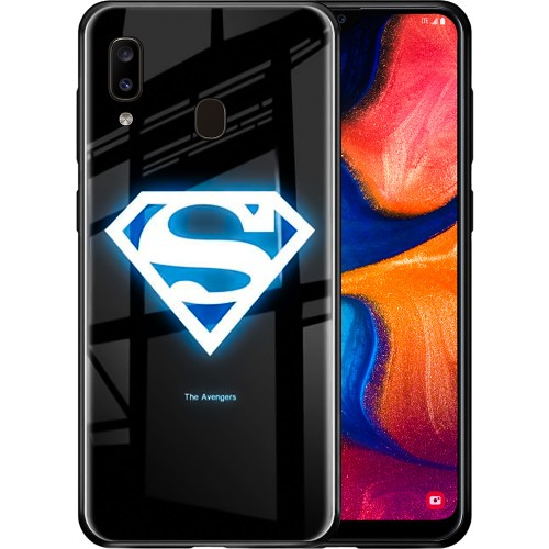 Накладка Luminous Glass Case Samsung A20 / A30 (2019) (Superman)