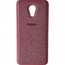 Силикон Textile Meizu M3 Note (Бордовый)