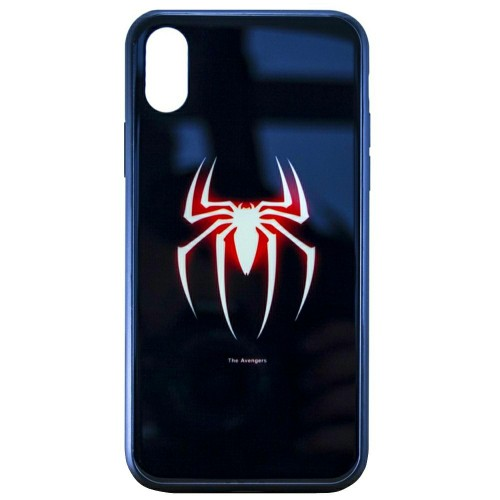 Накладка Luminous Glass Case Apple iPhone XR (Spiderman)