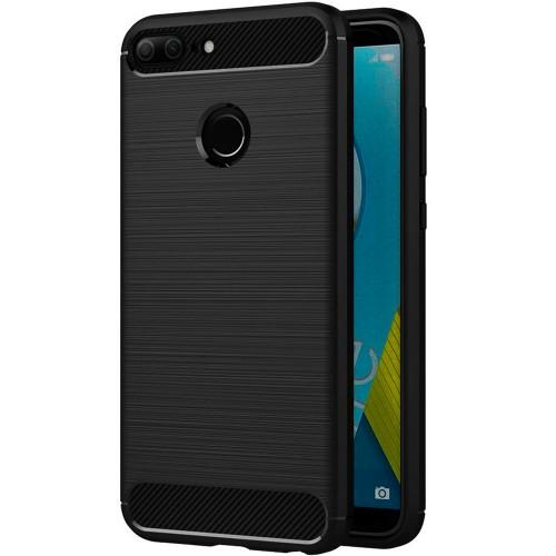 Силиконовый чехол Polished Carbon Huawei Honor 9 Lite (черный)