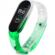 Ремешок Neon Clear Design Xiaomi Mi Band 3 / Band 4 (Зеленый)