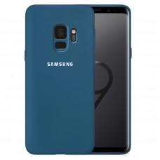 Силикон Original 360 Case Logo Samsung Galaxy S9 (Кобальт)