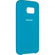 Силиконовый чехол Original Case Samsung Galaxy S7 Edge (Голубой)
