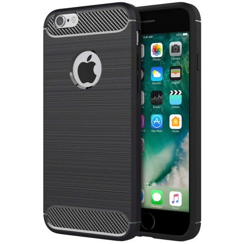 Силикон Polished Carbon Apple iPhone 6 / 6s (черный)
