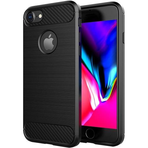 Силиконовый чехол Polished Carbon Apple iPhone 7 / 8 (черный)