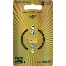 Карта памяти Borofone MicroSDHC 16Gb (Class 10)
