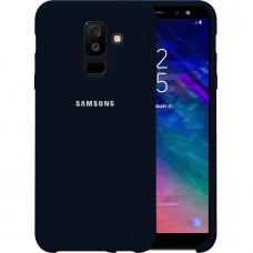 Силикон Original Case HQ Samsung Galaxy A6 Plus (2018) A605 (Тёмно-синий)