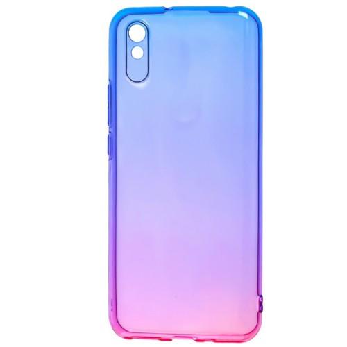 Силикон Gradient Design Xiaomi Redmi 9A (Сине-розовый)