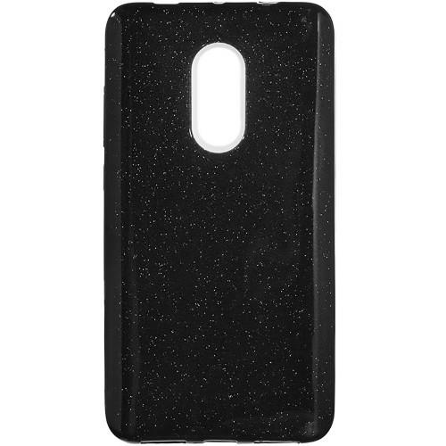 Силиконовый чехол Glitter Xiaomi Redmi Note 4x (черный)
