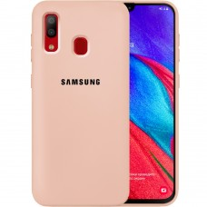 Силикон Original Case Samsung Galaxy A40 (2019) (Пудровый)