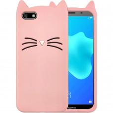 Силикон Kitty Case Huawei Y5 (2018) / Y5 Prime (2018) / Honor 7A (Розовый)