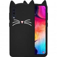 Силикон Kitty Case Samsung Galaxy A30s / A50 / A50s (2019) (Черный)
