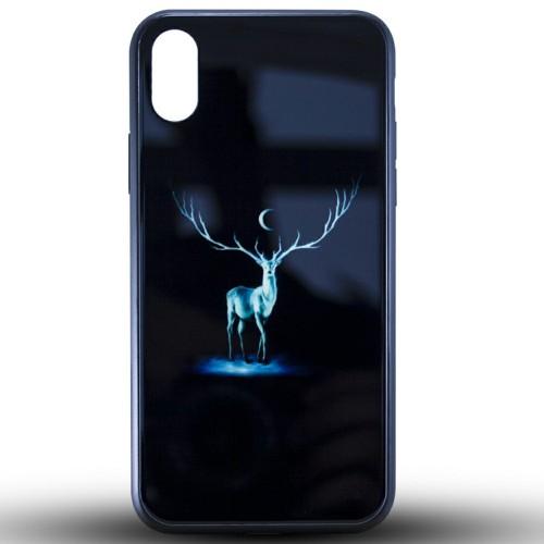 Накладка Luminous Glass Case Apple iPhone XR (Deer)