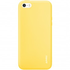 Силикон iNavi Color Apple iPhone 5 / 5s / SE (желтый)