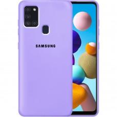 Силикон Original Case Samsung Galaxy A21S (2020) A217 (Фиалковый)