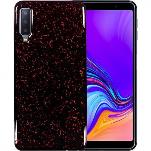 Накладка Confetti Samsung Galaxy A7 (2018) A750 (Красный)
