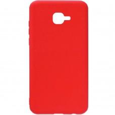 Силиконовый чехол iNavi Color Samsung Galaxy J1 (2016) J120 (Красный)