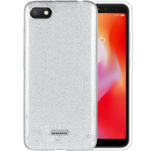 Силиконовый чехол Glitter Xiaomi Redmi 6A (Серый)