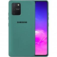 Силикон Original Case Samsung Galaxy S10 Lite (Тёмно-зелёный)