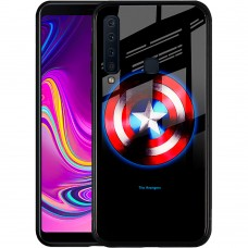 Накладка Luminous Glass Case Samsung A9 (2018) A920 (Captain America)