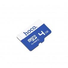 Карта памяти Hoco MicroSDHC 4Gb (синий)
