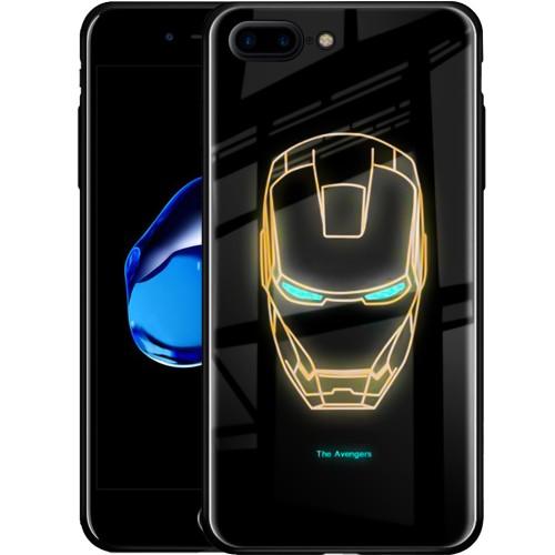 Накладка Luminous Glass Case Apple iPhone 7 Plus / 8 Plus (Iron Man)