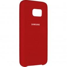 Силиконовый чехол Original Case Samsung Galaxy S7 Edge (Красный)