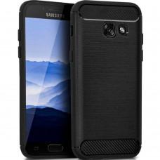 Силикон Polished Carbon Samsung Galaxy A5 (2017) A520 (Чёрный)