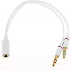 Разделитель Аудиовыхода 2х3.5 мм (M) - 3.5мм (F)
